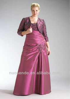 Free Shipping Mother of Bride Dress with Jacket Plus Size for Fat Woman $39.99~$119.99