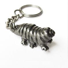 Tardigrade Keychain -  Waterbear Keychain, Water Bear, Moss Piglet by tcustom on Etsy https://www.etsy.com/listing/481811793/tardigrade-keychain-waterbear-keychain