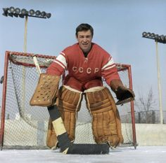 Viktor Zinger was a goaltender on the Soviet National team who was often the backup to Victor Konovalenko. Although in 1969 he was the main goalkeeper of the Soviet National team which won the World Championship in Sweden. Zinger was a member of the Soviet team which won the 1968 Winter Olympics in Grenoble and was also five-time world champion. He passed away earlier this year on September 24, 2013. Bruins Hockey, Hockey Goalie, Hockey Teams, Ice Hockey, Winter Olympic Games, Winter Games, Winter Olympics, Nhl, Hockey Room