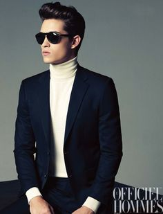 White turtle neck ... Definitely feeling this look this winter!!