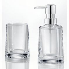 clear and grey acrylic bath accessories