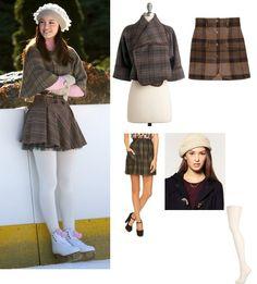 On Blair: Zara Capelet, Zara Skirt, Frenchi Turtleneck, Urban Outfitters Tights, Anthropologie Beret