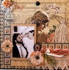 Beautiful Le Romantique Layout today on scrapbook.com by Dawna's Place. Stunning! #graphic45 #layouts