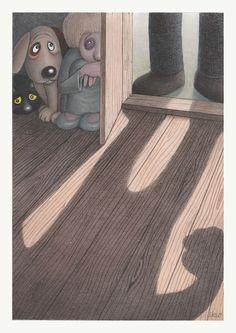 Exceptional Illustrations of Izabela Kowalska-Wieczorek Humor Grafico, Family Life, Kids Rugs, Illustrations, Decor, Marshall Law, Artists, World War, Raccoons