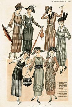 Vintage 1920s Dress Illustrations