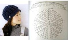 Bonnets , chapeaux et casquettes au crochet : modèles et grilles à imprimer ! - Crochet Passion
