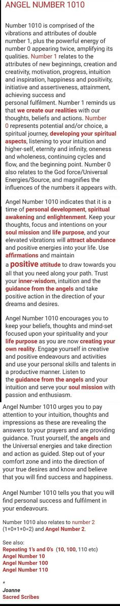 Numerology Reading - 1010 | angel number 1010 | meaning of 10:10 - Get your personalized numerology reading #numerologychart
