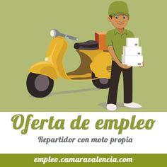 #empleo  Se buscan repartidores de comida a domicilio, con moto propria, ideal para compaginar con estudios y otro trabajo.  +info :http://bit.ly/1cD18nD  #ofertadeempleo #trabajo #trabajar #buscarempleo