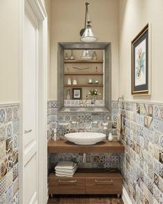 Wc Bathroom, Modern Bathroom Decor, Downstairs Bathroom, Bathroom Design Small, Bathroom Interior Design, Washbasin Design, Powder Room Decor, Bathroom Design Inspiration, Small Apartment Decorating