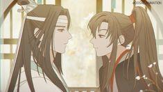 Lan Wangji x Wei Wuxian Cute Anime Guys, Cute Anime Couples, Anime Love, Otaku Anime, Manga Anime, Angel Manga, Anime Romans, Anime Lindo, Anime Kiss