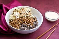 For the dressing: 1/4 cup mellow white miso 1/4 cup tahini 1 cloves garlic 1/2 cup to 3/4 cup water