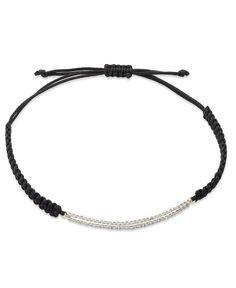 YellOra Diamond Double Bar Parachute Cord Bracelet in YellOra (1/6 ct. t.w.)