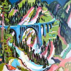 Bridge in Wiesen, 1926 - Ernst Ludwig Kirchner