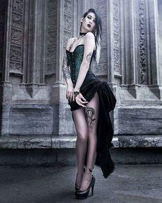 #repost by @metalgothaltofficial ------ Follow @mellifere_ - Necklace: @killercatjewels Corset: @lugusasylum Photographer: @z.vision . . #goth #gothgoth #gothgirl #gothic #gothicgirl #gothicstyle #gothique #romance #romanticgoth #gothicromance #church #victorian #corset #ink #inked #inkgirl #inkaddict #tatouage #tattoo #altgirl #altmodel #metalgothaltofficial
