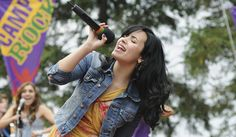 "Demi Lovato rocks out in ""Camp Rock 2: The Final Jam,"" co-starring the Jonas Brothers in 2010."