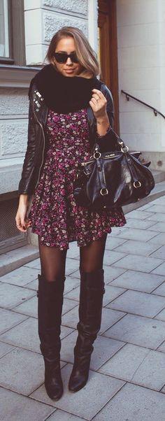 Daily New Fashion : FALL FLOWERS - Kenzas #bootsfall