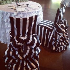 Genial Striped Chair Covers Www.tablescapesbydesign.com  Https://www.facebook.com/pages/Tablescapes By Design/129811416695