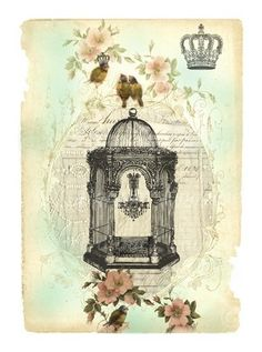 Antique Bird Cage Tattoo | Vinyl Art SA Products Bird Cages Bird Cage 4 - Anny Imagenes!
