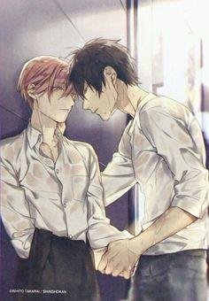 An anime adaptation of Rihito Takurai's Boys Love manga Ten Count will air some time in Manga Boy, Anime Boys, Cute Anime Boy, Manga Anime, Anime Meme, Cute Gay Couples, Anime Couples, 10 Count Manga, Ten Count