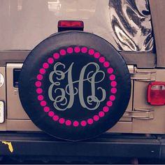 Monogrammed Tire Cover by BlueAbacoGifts on Etsy