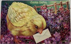 Vintage Easter Postcard..    via pinterest