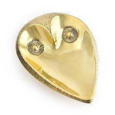 Brass Owl Dish