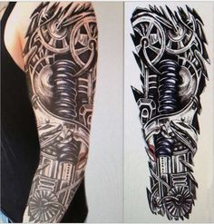 15*45cm Robot Arm Large Temporary Tattoos Mechanical Patten Fake Tattoo Stickers Waterproof Men Art Tattoos sex products
