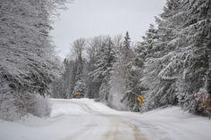 Winter road. County Hwy. G in Oneida County. PHoto by Sandy Buss