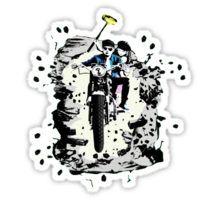 Emmett and Bay street art - Switched at Birth Sticker