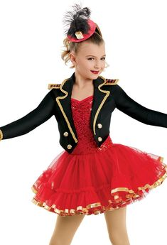 Shop our center-stage worthy collection of jazz dance costumes for your next recital. From jazz skirts and dresses to jazz pants and tutus, we have the looks that will make you shine. Christmas Dance Costumes, Dance Recital Costumes, Girls Dance Costumes, Jazz Costumes, Dance Outfits, Dance Dresses, Ringmaster Costume, Circus Costume, Jazz Pants