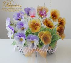 nylon flower - pansy - diy