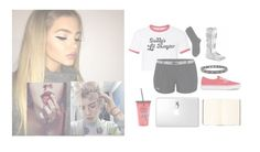"""Ootd // RTD // Rina Bell"" by pastelprincesslol ❤ liked on Polyvore featuring Under Armour, Maria La Rosa, Vans, Weston and Disney"