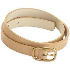 Women's 3/4 inch Casual Basic Belt, Size: S/M, Beige