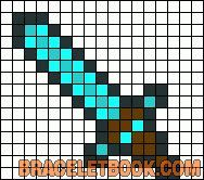minecraft weapon perler pattern - Google Search