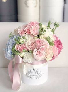 A Comprehensive Overview on Home Decoration - Modern Flower Box Gift, Flower Boxes, My Flower, Shabby Flowers, Pretty Flowers, Beautiful Flower Arrangements, Floral Arrangements, Bouquet Box, Luxury Flowers