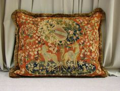 Lovely old needlepoint pillow