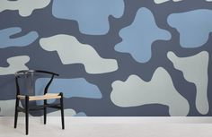 This stylish blue camo wallpaper will introduce stylish colour to any children's bedroom, creating a fun themed space.
