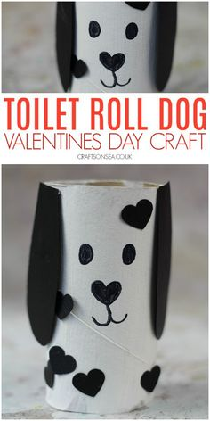 Cute Dog Valentines Day Toilet Paper Roll Craft - Kids Crafts - valentines day crafts for kids cute toilet roll dog - Valentine's Day Crafts For Kids, Valentine Crafts For Kids, Dog Crafts, Toddler Crafts, Preschool Crafts, Art For Kids, Activities For Kids, Valentines Day Funny, Yarn Crafts