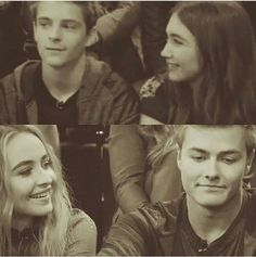 """#GirlMeetsWorld """"World Meets Girl"""" (Rowan looking at Corey and Sabrina looking at Peyton smiling while the guys are not looking. It's like the girls are looking at the guys they really like. These two 'couples' are so adorable)"""