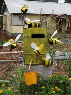 This creative Bee Mail Box is in Wilmot, Tasmania.