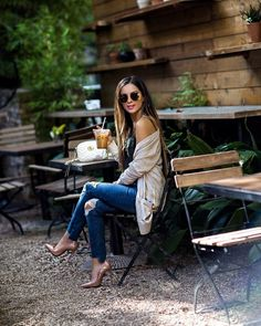 Fashion Look Featuring Abercrombie & Fitch Teen Girls' Sweaters and Abercrombie & Fitch Camisoles by MiaMiaMine - ShopStyle Classy Outfits, Casual Outfits, Cute Outfits, Fashion Outfits, Fashion Trends, Jeans Fashion, Love Fashion, Autumn Fashion, Fashion Looks
