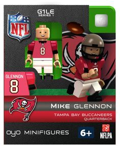 OYO Tampa Bay Buccaneers Mike Glennon NFL Football Team Set Mini Figures Limited Edition