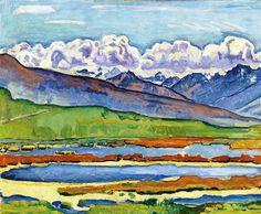 Alsace, 27.01.2013   À découvrir dès à présent, Ferdinand Hodler (ici « Paysage près de Montana », 1915). DR
