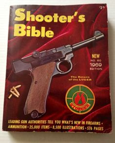 Shooters Bible 1969 Catalog Guns Rifles Firearms Reference Book Luger