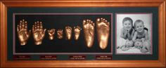 3D  1 hand and 1 foot each of 4 children +Photo. www.fmni.com.au https://www.facebook.com/pages/Forget-Me-Not-Impressions/105458717541?ref=hl
