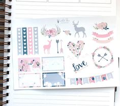 Glossy planner stickers sampler - Individually kiss cut & perfect for the Erin Condren Vertical planner!  Listing includes: 1 Glossy Sheet: *