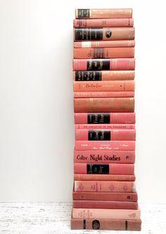 Vintage Light Pink ~ Blush Pink Books by beachbabyblues