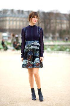 Jeanne Damas in Valentino   - HarpersBAZAAR.com