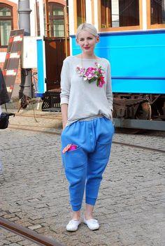 Baggy blue pants