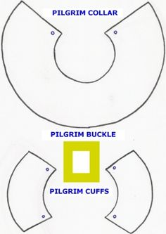 pilgrim pattern printables | Cut the pilgrim collar and cuffs from the white felt, using the ...